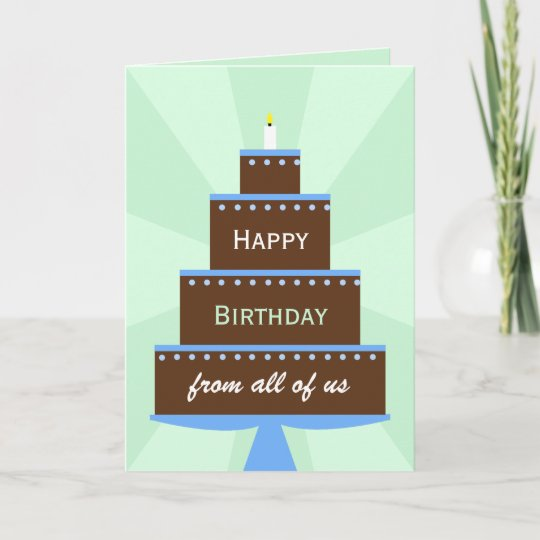 office coworker group birthday card cake - Coworker Birthday Card