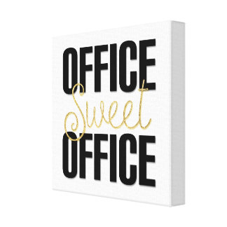 Office Decor Wall Art Gold Glitter Coworker Gift