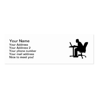 Office desk computer Double-Sided mini business cards (Pack of 20)