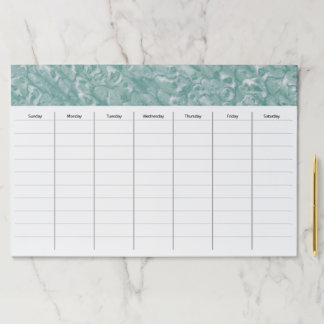 Office Desk Weekly Schedule Paper Pad Gift