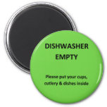 Office Dishwasher Notices 2 Inch Round Magnet