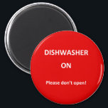 """Office Dishwasher Notices Magnet<br><div class=""""desc"""">Fed up with confusion over the office dishwasher? Is it full?  Is it empty? Always finding the wash interrupted by people opening it mid-wash? Then look no further,  here is a handy answer to your problem!</div>"""