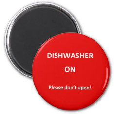 Office Dishwasher Notices Magnet at Zazzle