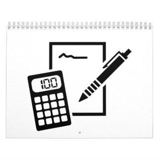 Office equipment calendar