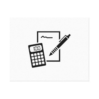 Office equipment stretched canvas print