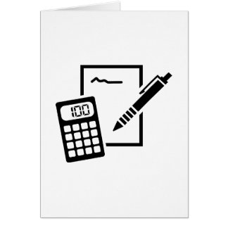 Office equipment greeting card