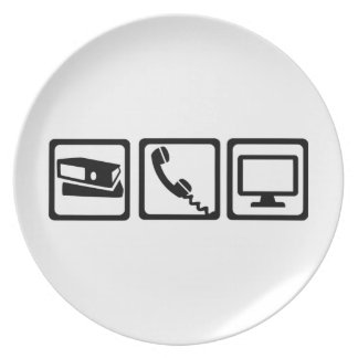 Office equipment party plate