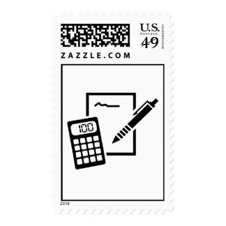 Office equipment postage stamps