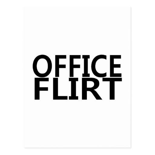 Office Flirt Postcard