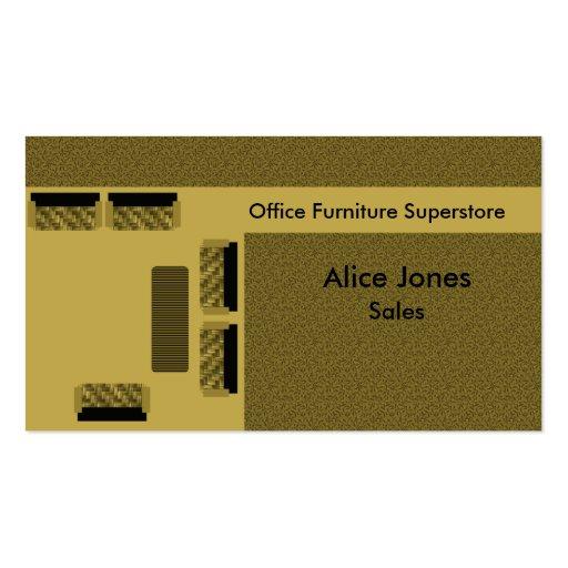 Office Furniture Business Card, Beige