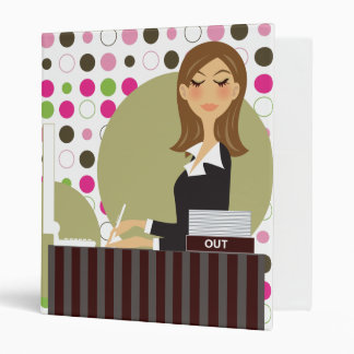 Office Girl Personalized Binder