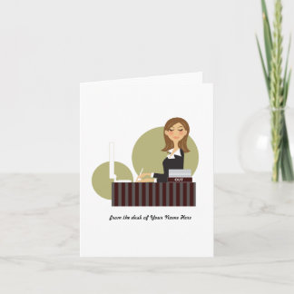 Office Girl Personalized Notecards