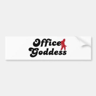 office goddess pegatina para auto
