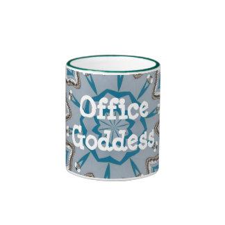 Office Goddess Ringer Mug