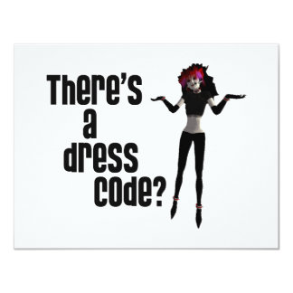 Office Goth - There's a Dress Code? Card
