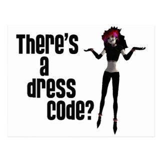 Office Goth - There's a Dress Code? Postcard