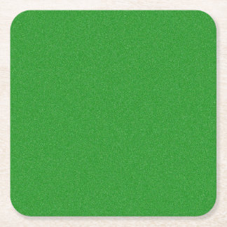 Office Green Star Dust Square Paper Coaster