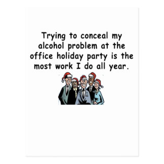 Office Holiday Party Humor Postcard