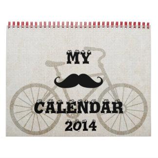 Office Home Mustache Nature Peace Love Destiny Calendar