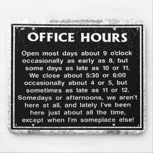 Office Hours Mouse Pad