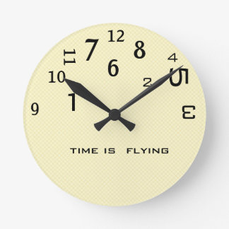 Office Humor Backwards Time Round Clock