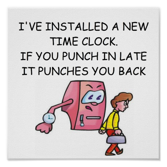 humor office funny humour poster posters clock jokes workplace friday discipline laughter fun sales feeling importance supplies front business zazzle