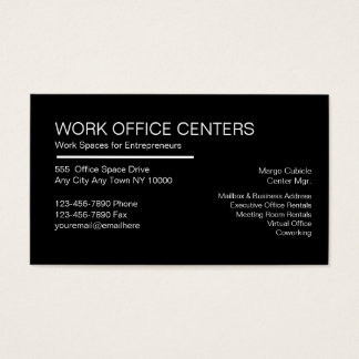 Office Leasing Business Cards