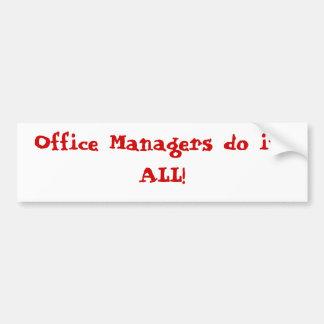 Office Manager Bumper Sticker