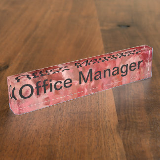 Office Manager Desk Name Plates