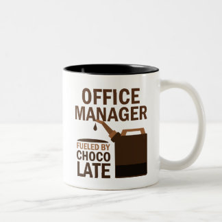 Office Manager (Funny) Gift Two-Tone Coffee Mug