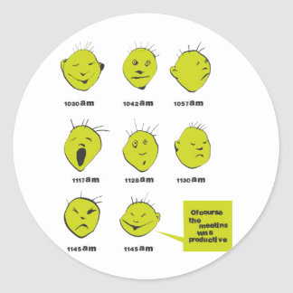 office meeting classic round sticker