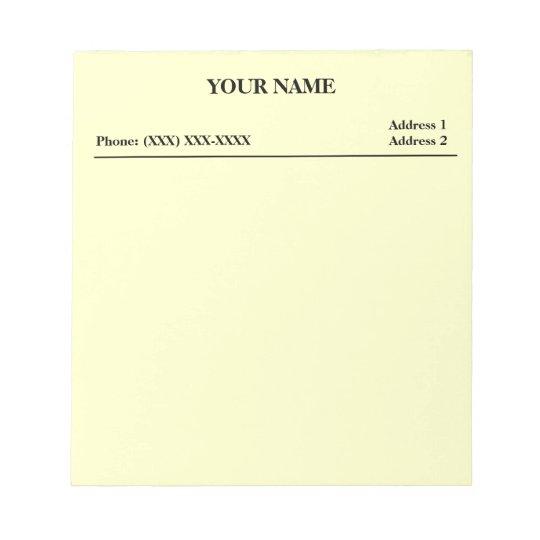 Office Memo Pad (White)
