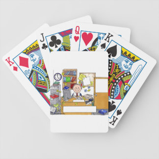 Office, Messy Male Personalized Cartoon Gift Bicycle Playing Cards