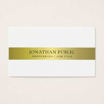 Lawyer Themed Office Modern Stylish Attorney Director Plain Luxe Business Card