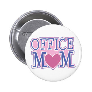 Office Mom Button