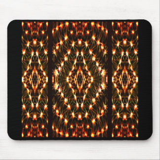 Office Mouse Pad on Cactus Pattern over Black