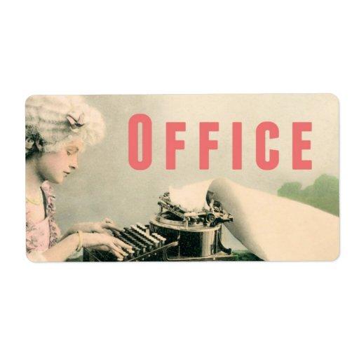 Office Moving Storage Box Label Sticker Vintage Zazzle
