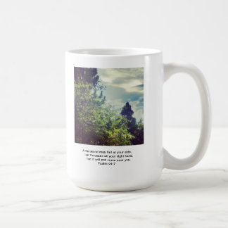 Office mug with bible promise of protection