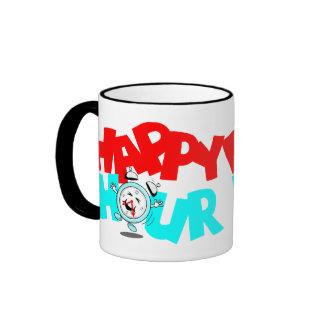 Office Mugs Retro Style Happy Hour Anthropomorphic