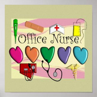 Office Nurse Poster Art