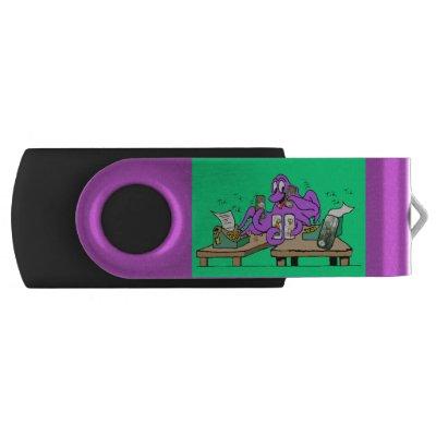 Office Octopus Cartoon USB stick Flash Drive