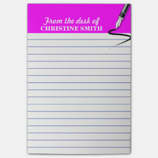 Office organizer pink Post-it® note PERSONALIZE