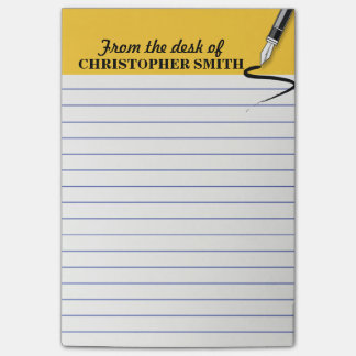 Office organizer yellow Post-it® note PERSONALIZE