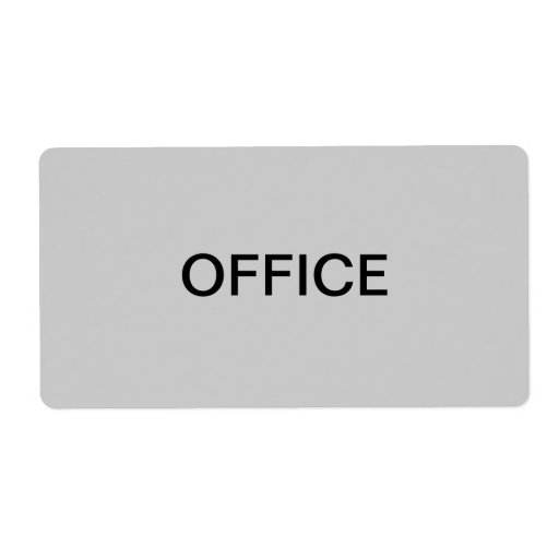 Office Packing Moving Custom Shipping Labels Zazzle