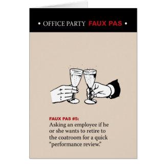 Office Party Faux Pas #5 Card