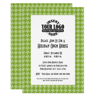 Office Party With Company Logo Card at Zazzle