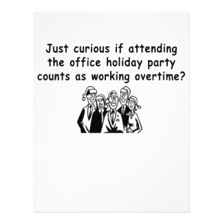Office Party working overtime Letterhead