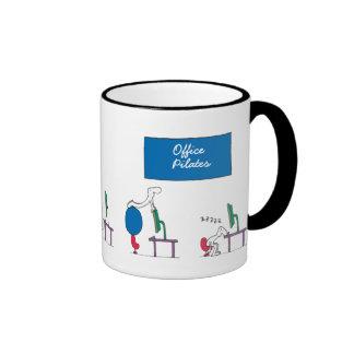 Office Pilates Mug, white