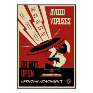 Office Propaganda: Avoid Downloads Poster at Zazzle