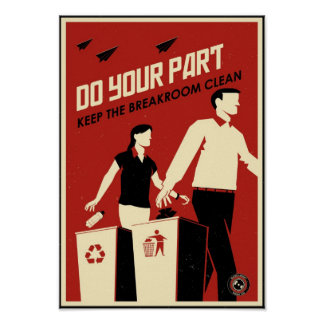 Office Propaganda Breakroom Posters